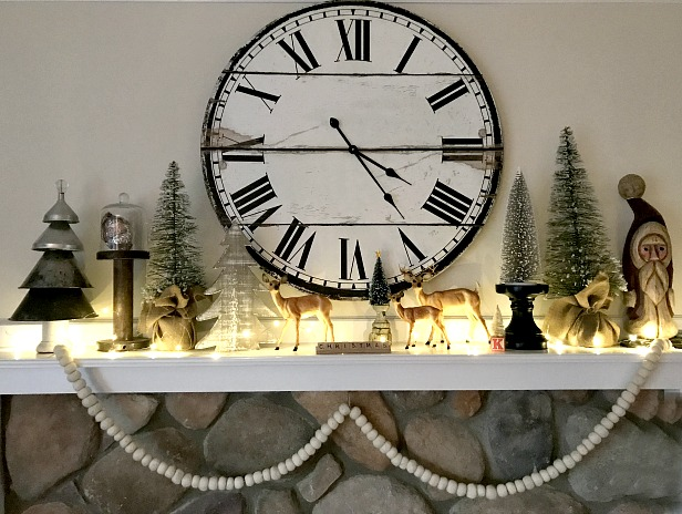 Beautiful Christmas mantel Favorite repurposed decorations