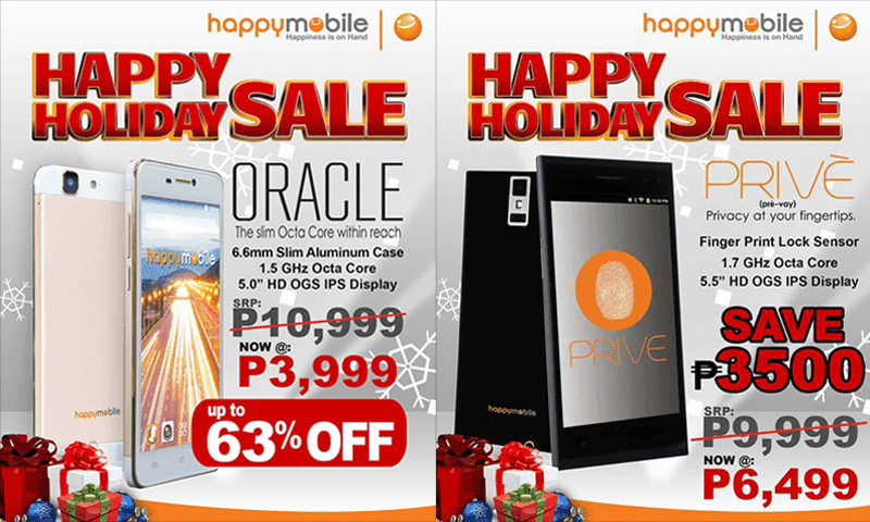 Happy Mobile Cuts The Price Of Oracle And Prive, Down To 3999 And 6499 Pesos Respectively!