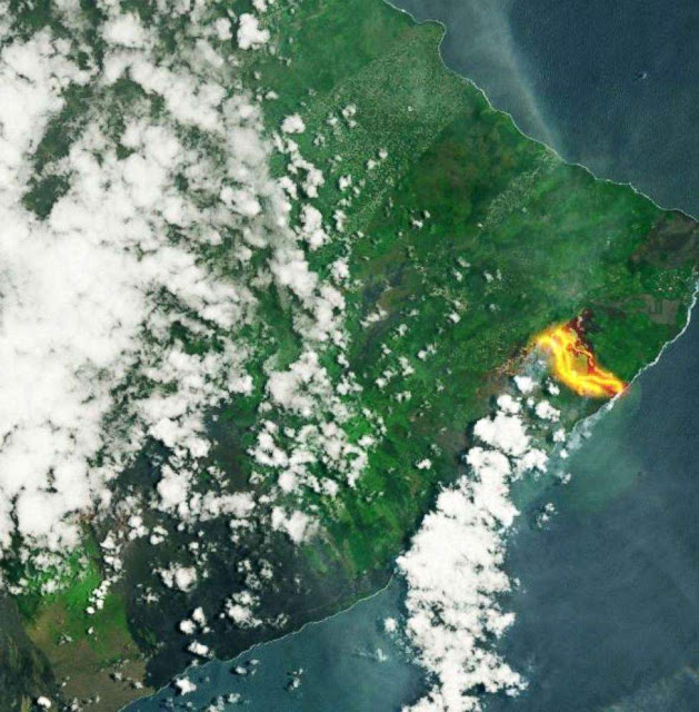 Lava in Hawaii So Widespread It Can Be Seen From Space