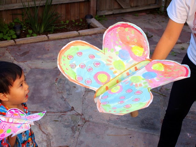 fun kids craft- make a large butterfly craft