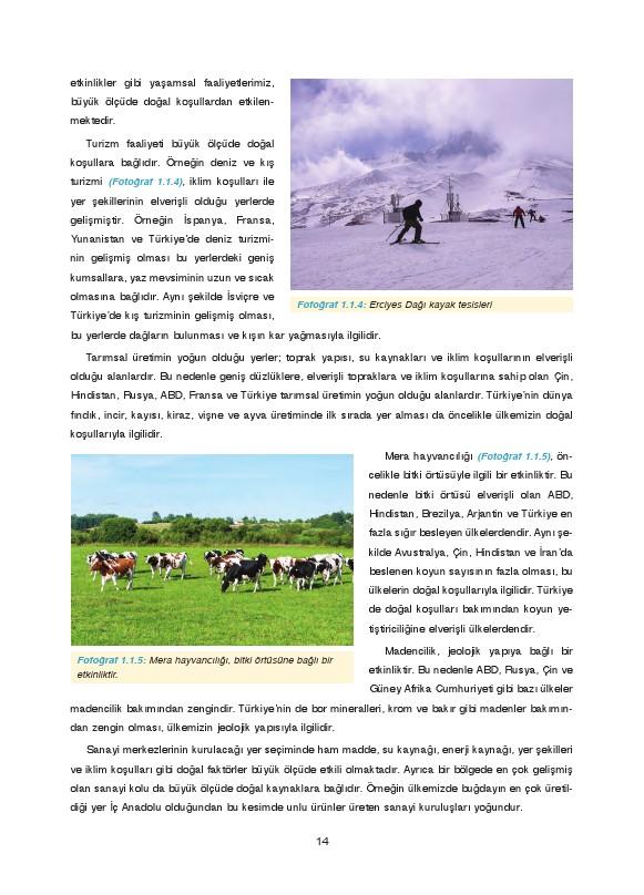 9. Sınıf Coğrafya Ders Kitabı Cevapları Fersa Yayınları Sayfa 14