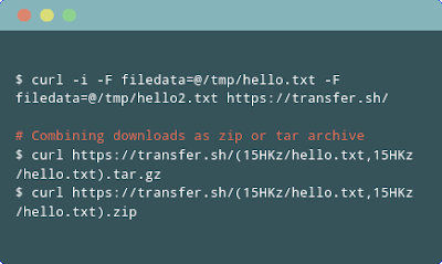 Mengunggah banyak berkas ke transfer.sh sekaligus