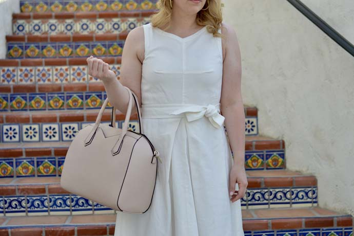 Summer White Linen Dress