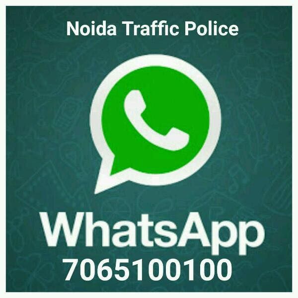 Noida Traffic Police Launched WhatsApp Helpline