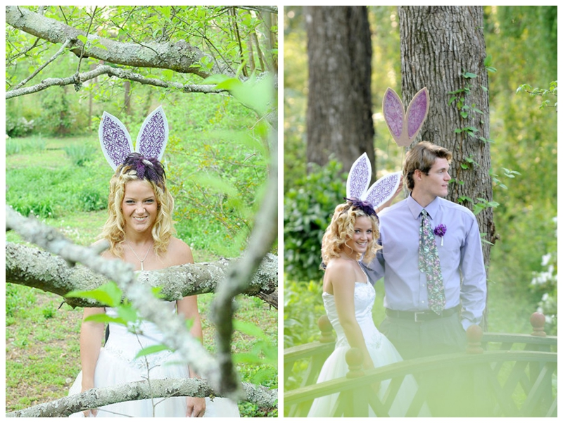 Photo Credit Fun Spring Wedding Shoot By Famous William But Similar Bunny Ear Props From Maro Designs