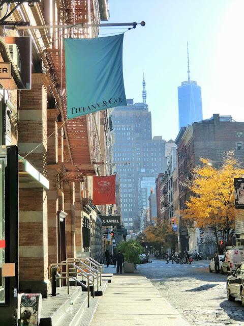 Street view of soho in manhattan - new-york  Tiffany Chanel
