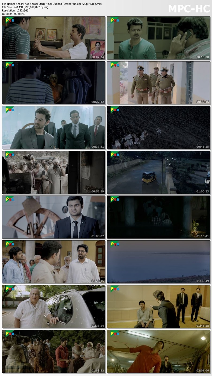 Khakhi Aur Khiladi 2018 Hindi Dubbed 480p HDRip 350MB Desirehub