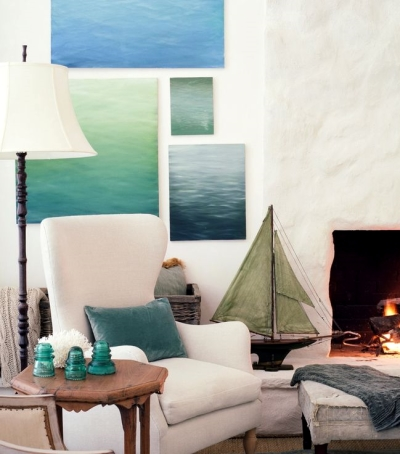 ocean paintings gallery wall