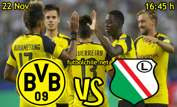 Ver stream hd youtube facebook movil android ios iphone table ipad windows mac linux resultado en vivo, online: Borussia Dortmund vs Legia Varsovia