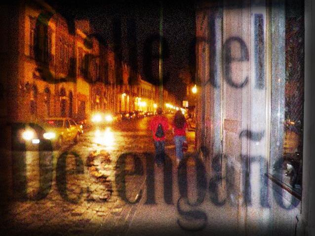 Foto del poema Falena de Nazareno Saudade(Calle del desengaño)