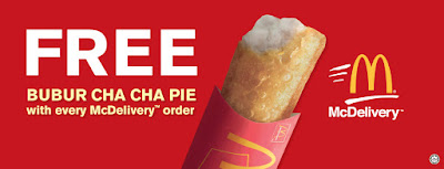 McDonalds McDelivery Free Bubur Cha Cha Pie Promo