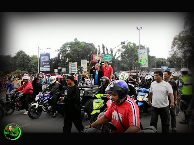 Mang Eep bebas... Mang Eep konvoi keliling kota Subang