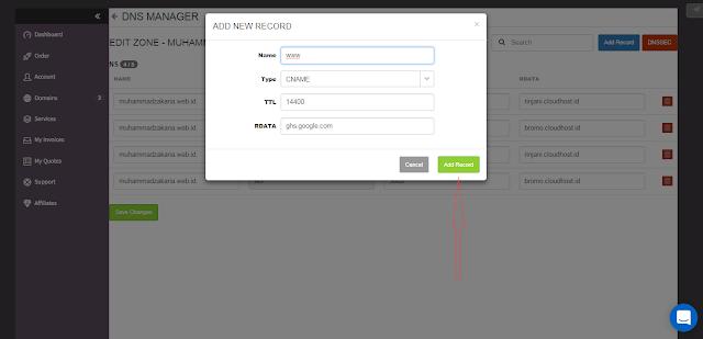 cara membuat custom domain google