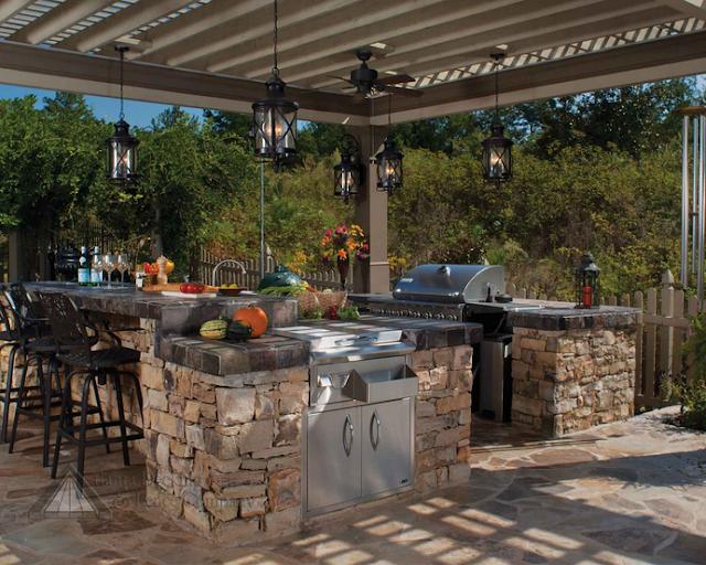 Gambar Desain Dapur dan Ruang Makan Terbuka Outdoor