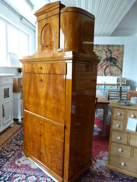 antike m bel trommel sekret r biedermeier um 1820 schellack poliert. Black Bedroom Furniture Sets. Home Design Ideas
