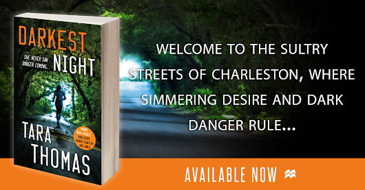 Darkest Night (Sons of Broad #1) by Tara Thomas #BlogTour #BookReview #Excerpt #Giveaway #QandA #RomanticSuspense #Romance #Review #AvailableNow #SecondChances #NewRelease #AuthorQandA #Live