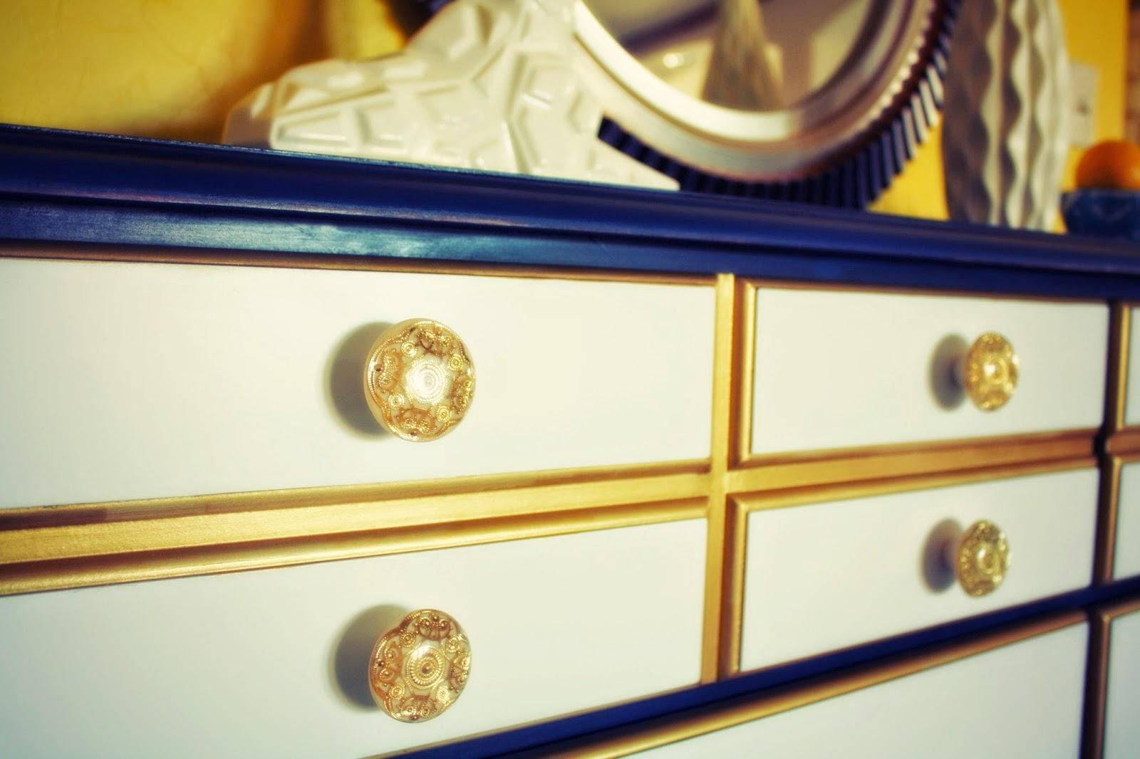 The Turquoise Iris Furniture Amp Art Navy Blue Gold