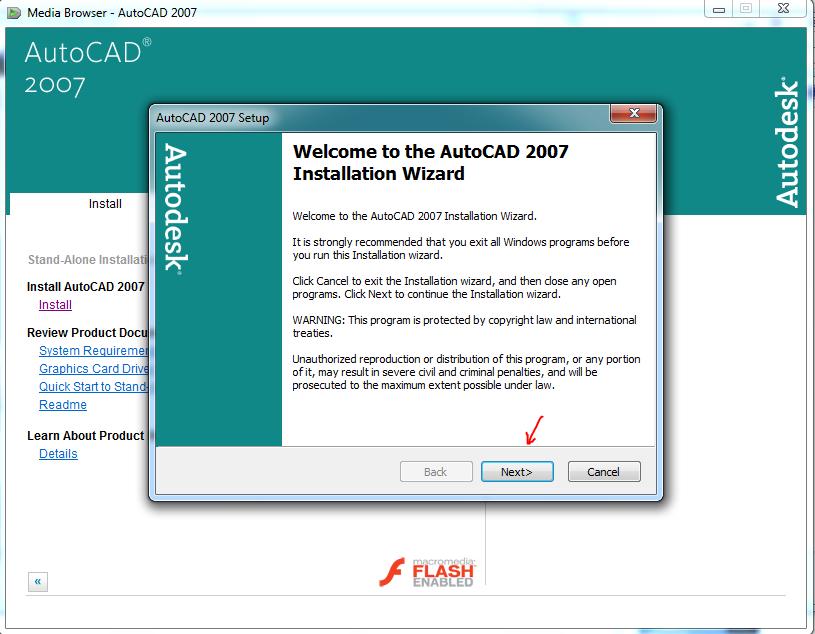 Sepiring ilmu: Cara-Install-Autocad 2007 Dengan Crack