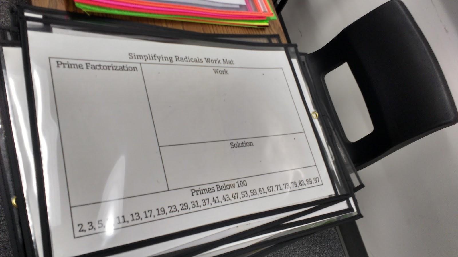 Math classroom speed dating