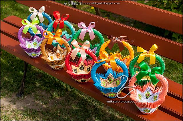 564. Koszyki z origami / 3d origami baskets