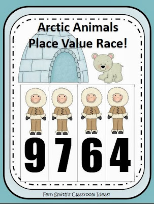 http://www.teacherspayteachers.com/Product/Place-Value-Race-Arctic-Winter-Animals-By-Fern-Smith-861077
