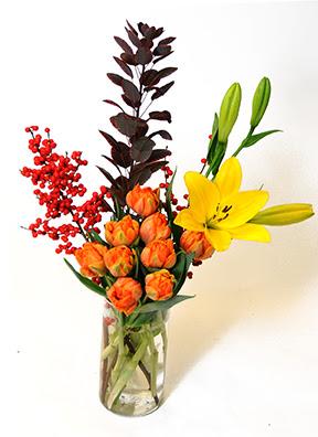 Ilex, Tulips, Cotinus, Royal Lilies