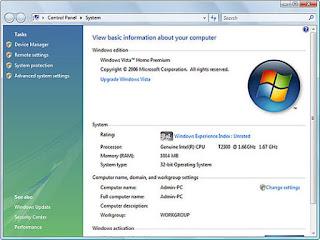 laptop processzor információk