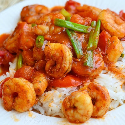 slow cooker Cajun shrimp and rice