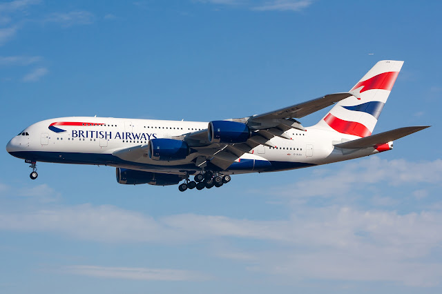 British Airways A380-800 Landing Gear Retracted