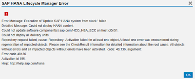 SAP HANA Live Installation Tips + Tables.