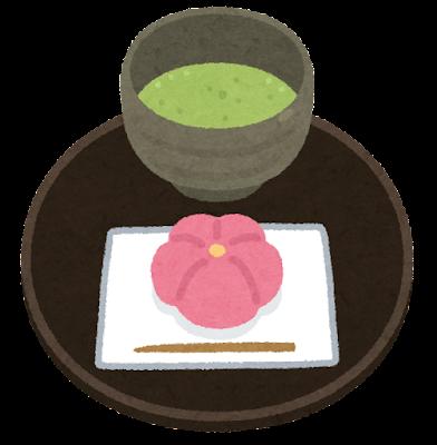 茶菓子とお茶のイラスト