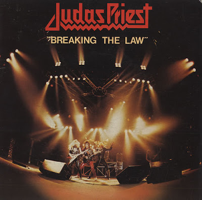 Portada del single Breaking the law de Judas Priest