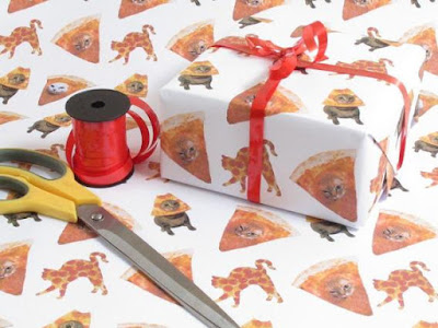 Space Pizza Cat Wrapping Paper