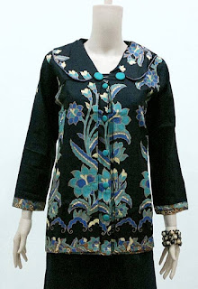 Aneka Model Baju Batik Kerja Guru Lengan Panjang