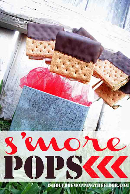 Easy S'more Pops: only three ingredients and fast to put together. #smores #smorepops #summer