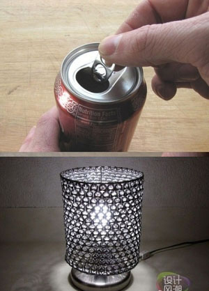 DIY Soda Pop Tab lampshade