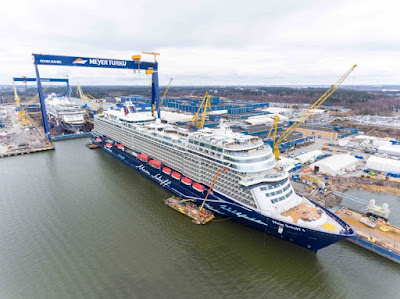 Mein Schiff 1 at Meyer Werft Shipyard Turku Finland Prior to Delivery.