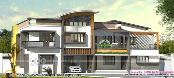 Wide contemporary style luxury 5 bedroom home
