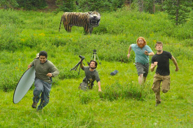meme harimau bahagia
