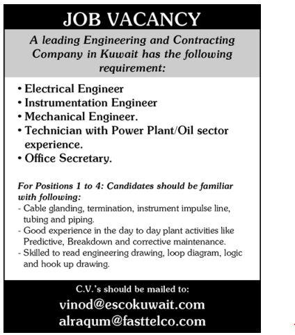 Job sectors for mechanical engineers