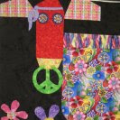 Ann's psycowdelic cow from Quilting Adventures in the Hill Country