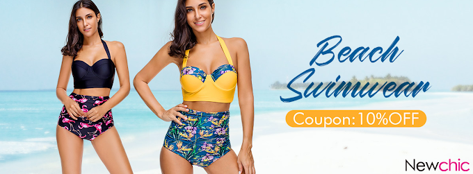 Say hello to CONFIDENT BEACH LIFE with High Waist Beach Swimwear from New Chic