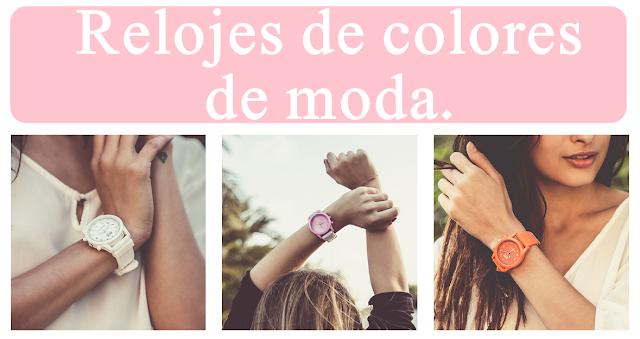 relojes de colores de moda
