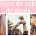 Los relojes de colores de moda