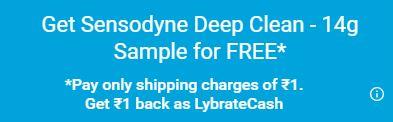 SENSODYNE - Lybrate SENSODYNE Toothpaste Sample at Just Rs.1