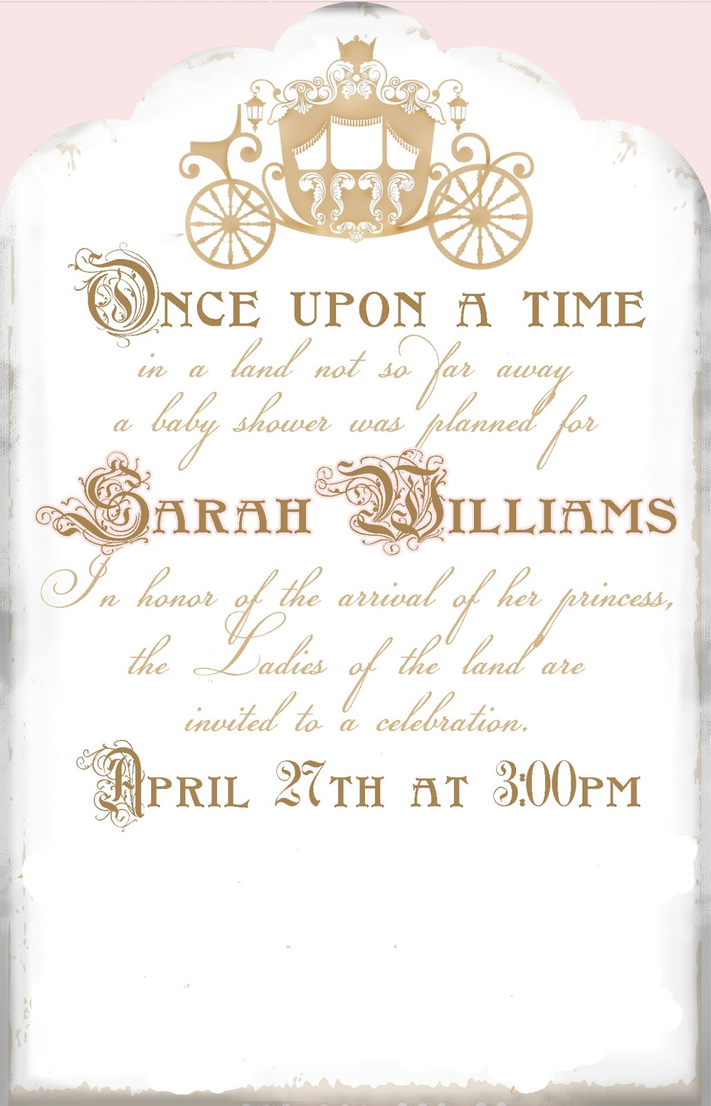 Shower Time Once Baby Upon Invitations