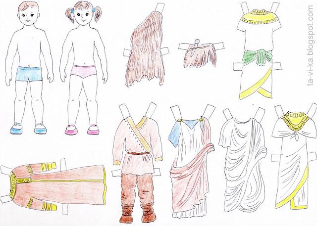 скачать бумажную куклу с одеждой