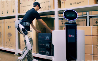 CLOi SuitBot, LG's First Human-centric Robot Designed for Industry and Healthcare