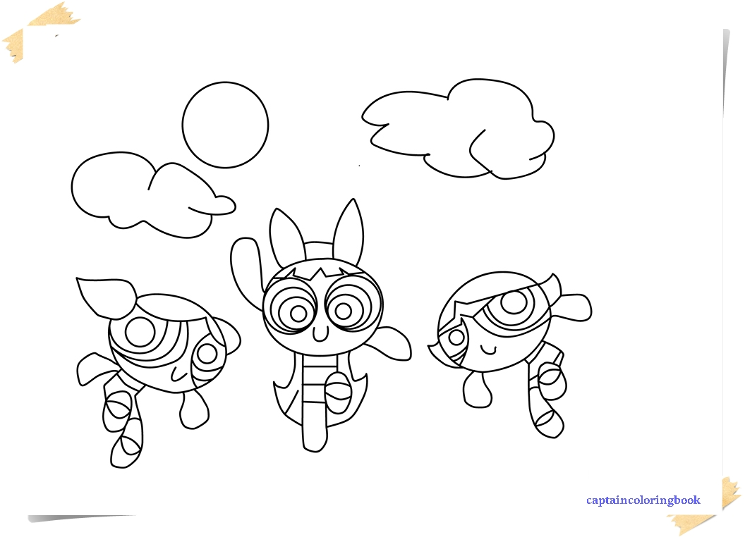 New Powerpuff Girls Coloring Pages - Coloring Page