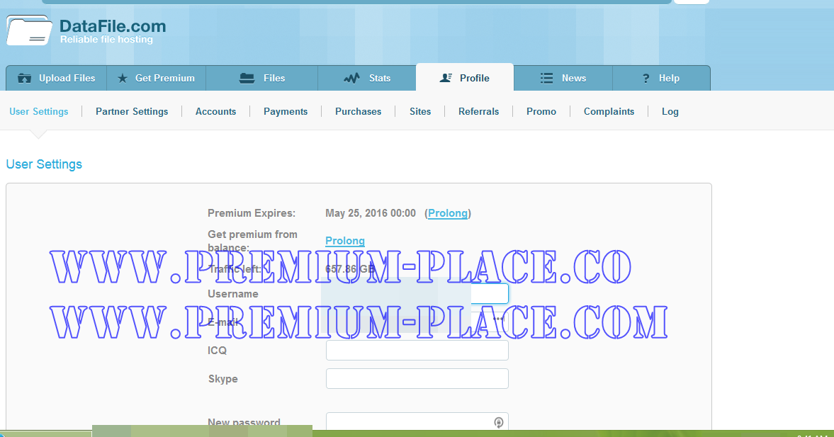 Uploaded premium link generator working